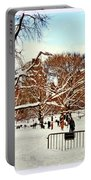 A Snow Day In Central Park Portable Battery Charger