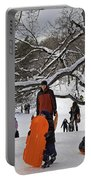 A Snow Day In The Park Portable Battery Charger