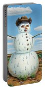 A Snowman In Texas Portable Battery Charger