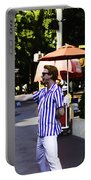 A Street Entertainer In The Hollywood Section Of The Universal Studios Portable Battery Charger