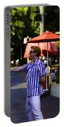 A Street Entertainer In The Hollywood Section Of Universal Studios Portable Battery Charger