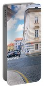A Street In Prague Portable Battery Charger