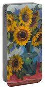 A Sunflower Day Portable Battery Charger