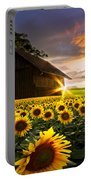 A Sunflower Moment Portable Battery Charger