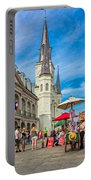 A Sunny Afternoon In Jackson Square Portable Battery Charger