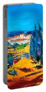 A Sunny Day In Provence Portable Battery Charger by Elise Palmigiani