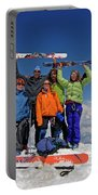 A Team Of Climbers Celebrate Portable Battery Charger