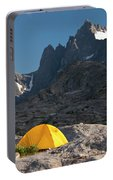 A Tent Is Dwarfed By The High Peaks Portable Battery Charger