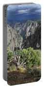 A Thunderstorm Is Approaching Over The Black Canyon Portable Battery Charger