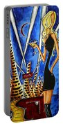 A Toast To The Little Black Dress By Madart Portable Battery Charger