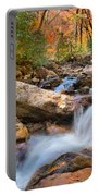 A Touch Of Autumn At Skinny Dip Falls Portable Battery Charger