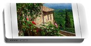 A Tuscan View Poster Portable Battery Charger