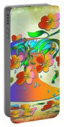 A Vase Of Flowers Portable Battery Charger