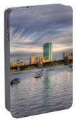 A View Of Back Bay - Boston Skyline Portable Battery Charger