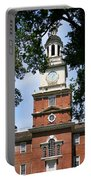 A View Of Independence Hall Portable Battery Charger