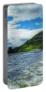 A View Of Urquhart Castle From Loch Ness Portable Battery Charger