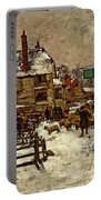 A Village In The Snow Portable Battery Charger