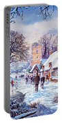 A Village In Winter Portable Battery Charger