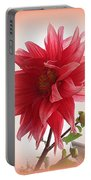 A Vision In  Coral - Dahlia Portable Battery Charger
