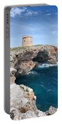 Xviii Defensive Tower In Alcafar Minorca - A Walk About Cliffs Portable Battery Charger