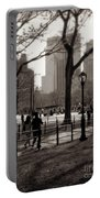 A Walk In Central Park - Antique Appeal Portable Battery Charger