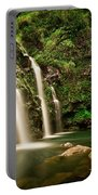A Waterfall In Hana, Maui Portable Battery Charger