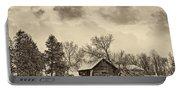 A Winter Sky Sepia Portable Battery Charger