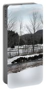 A Wintery Day In Vermont Portable Battery Charger