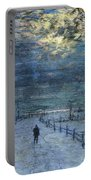 A Wintry Walk Portable Battery Charger