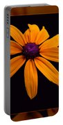 A Yellow Burst Of Sunshine Floral Photography Portable Battery Charger