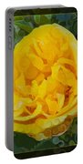 A Yellow Rose Abstract Painting Portable Battery Charger
