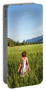 A Young Girl, Daughter Of A Farmer Portable Battery Charger