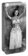 A Young Hawaiian Hula Woman Portable Battery Charger