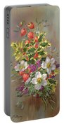 A Yuletide Posy Portable Battery Charger