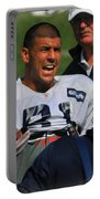Aaron Hernandez With Patriots Coaches Portable Battery Charger
