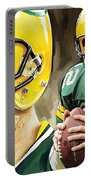 Aaron Rodgers Green Bay Packers Quarterback Artwork Portable Battery Charger