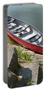 Abandoned Boat At The Quay Portable Battery Charger
