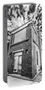 Abandoned Bridge Tower Bw Portable Battery Charger