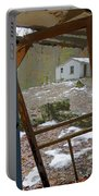 Abandoned Cabin Elkmont Smoky Mountains - Screened Door Old House Portable Battery Charger