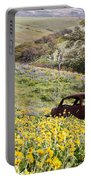Abandoned Ford Buried In Wildflowers Portable Battery Charger