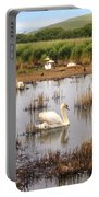 Abbotsbury Swannery Portable Battery Charger by Joana Kruse