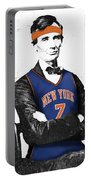 Abe Lincoln In A Carmelo Anthony New York Knicks Jersey Portable Battery Charger