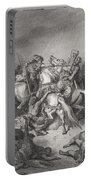 Abishai Saves The Life Of David Portable Battery Charger by Gustave Dore
