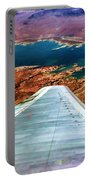 Above Lake Mead By Diana Sainz Portable Battery Charger