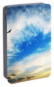 Above The Clouds - American Bald Eagle Art Painting Portable Battery Charger