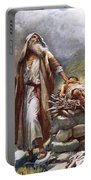Abraham And Isaac Portable Battery Charger by Harold Copping