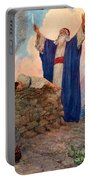 Abraham And Isaac On Mount Moriah Portable Battery Charger