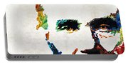 Abraham Lincoln Art - Colorful Abe - By Sharon Cummings Portable Battery Charger