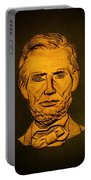 Abraham Lincoln  Portable Battery Charger by David Dehner