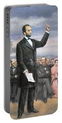 Abraham Lincoln Delivering The Gettysburg Address Portable Battery Charger